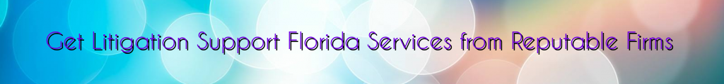 Get Litigation Support Florida Services from Reputable Firms