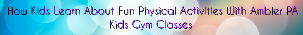 How Kids Learn About Fun Physical Activities With Ambler PA Kids Gym Classes