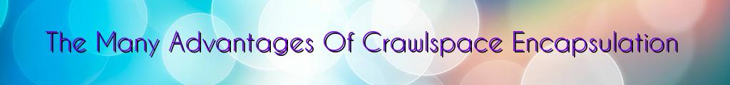 The Many Advantages Of Crawlspace Encapsulation