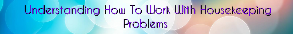Understanding How To Work With Housekeeping Problems
