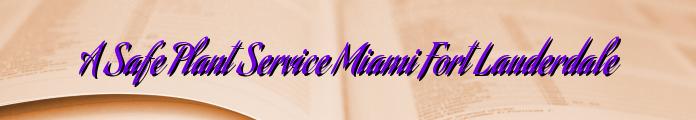 A Safe Plant Service Miami Fort Lauderdale