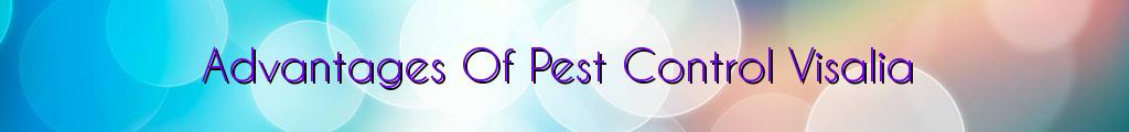 Advantages Of Pest Control Visalia