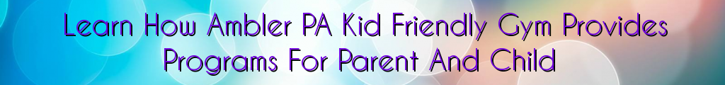 Learn How Ambler PA Kid Friendly Gym Provides Programs For Parent And Child