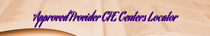Approved Provider CPE Centers Locator